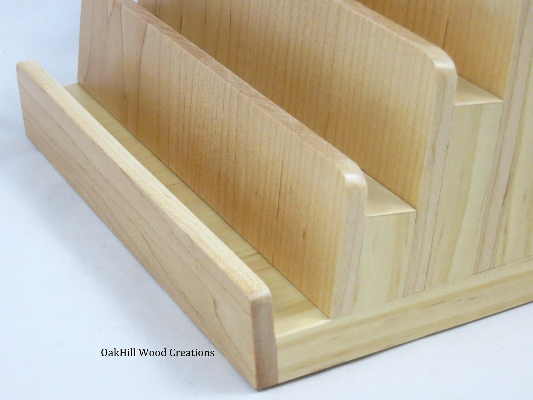 Multiple Business Card Holder, 5 Tier, Wood Business BC 5T-120