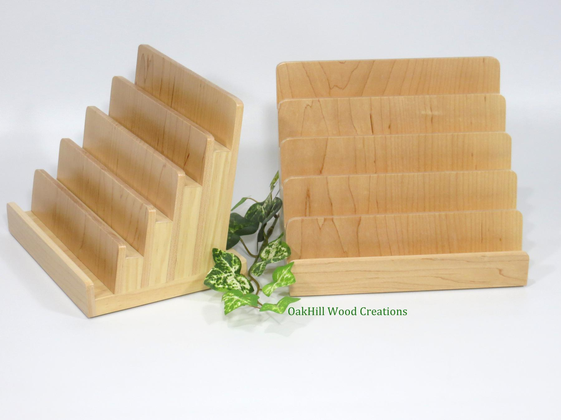 Wood Card Display Multiple Stand